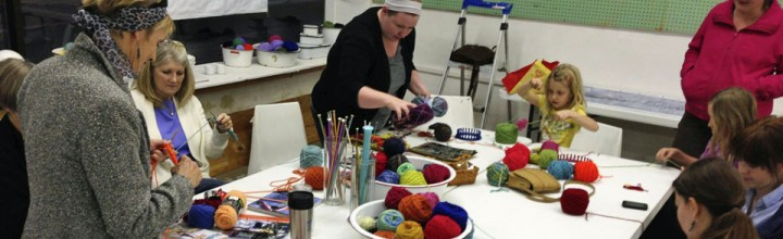 Yarn Bombers meet on Sundays 4-6