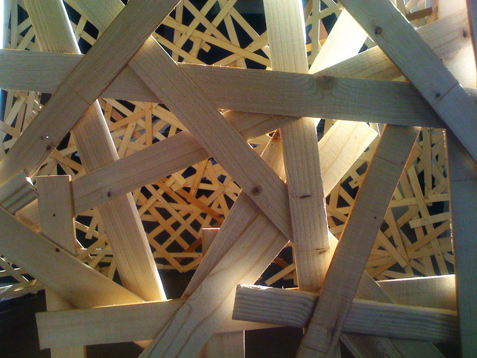Woven Lignin/ Pick-up Stick Pavilion opens on December 13th