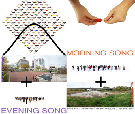 Morning Song/Evening Song sound installation graphic