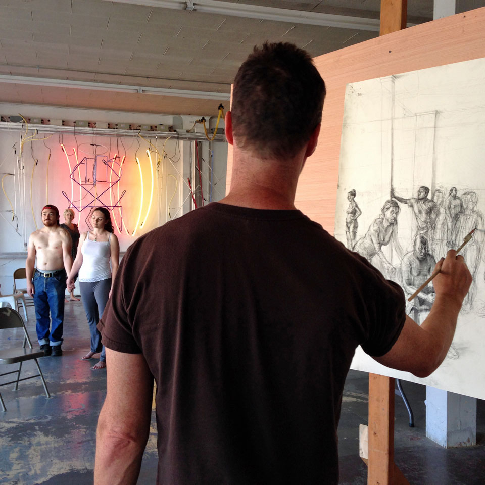 Drawing Marathon: Shane Savage-Rumbaugh's Artist Residency Encourages Community Involvement at ideaXfactory