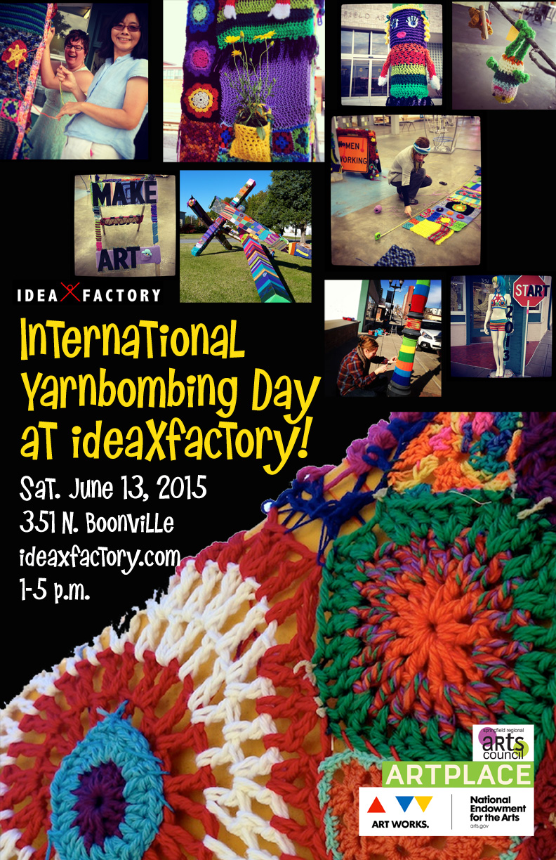 International Yarnbombing Day at ideaXfactory