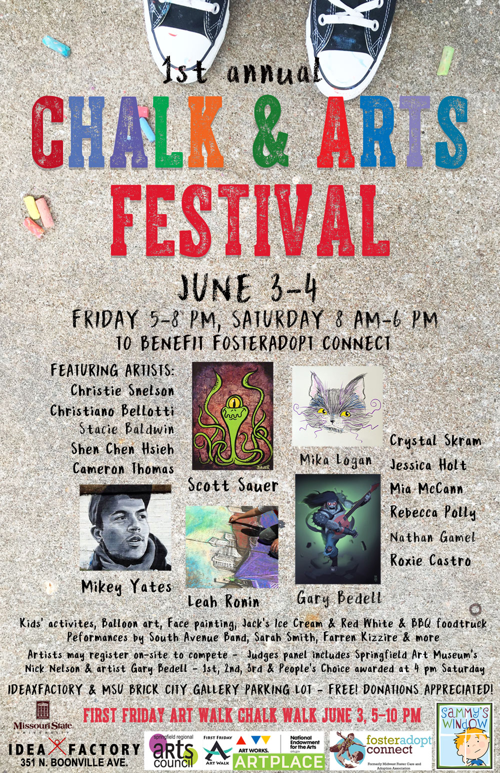 Chalk Walk & Chalk & Arts Festival