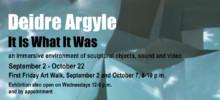 """Deidre Argyle's immersive installation """"It Is What It Was"""""""