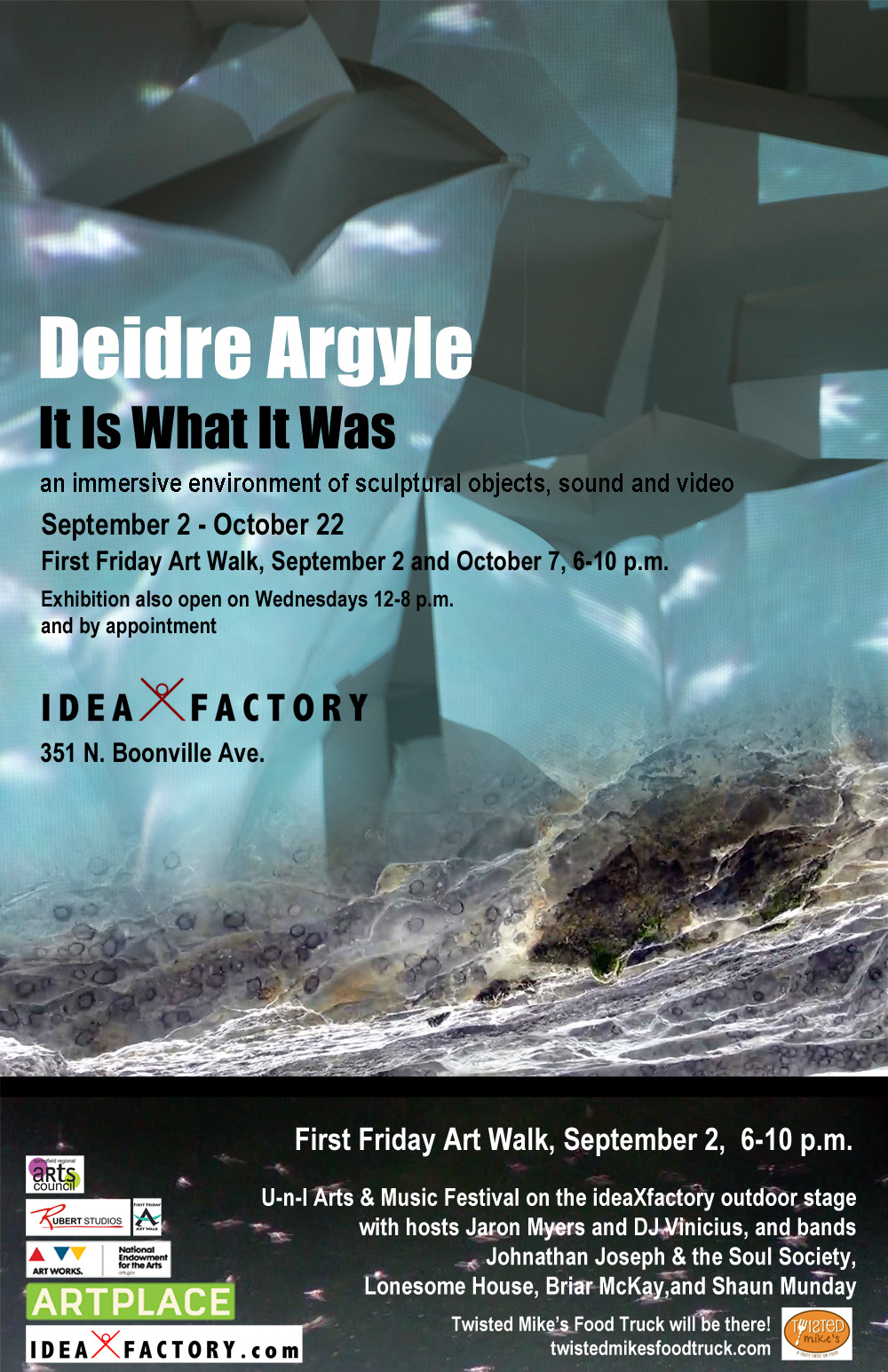 "Deidre Argyle's immersive installation ""It Is What It Was"""