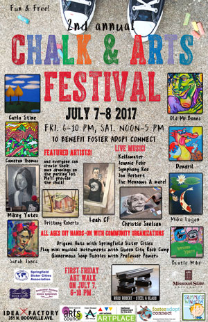 Chalk & Arts Festival on July 7-8