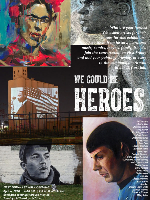 Opening Reception for 'We Could Be Heroes' Exhibition on April 6