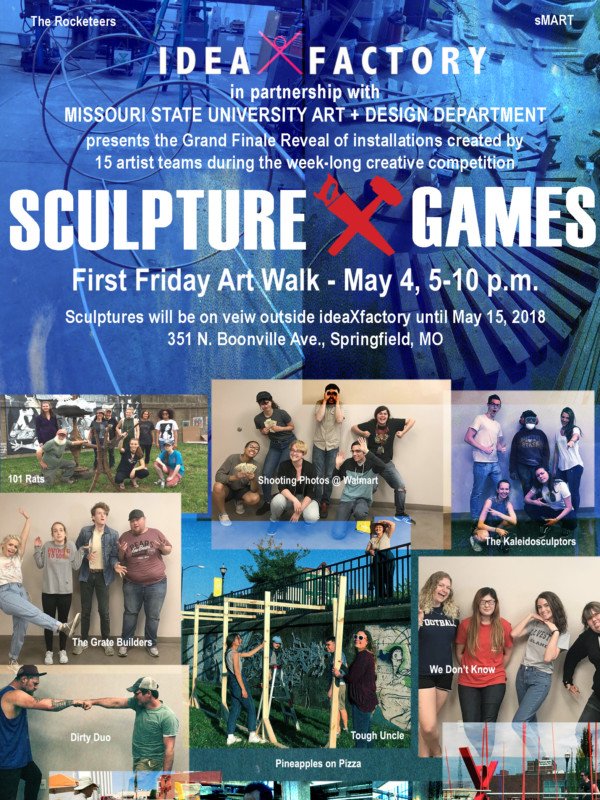 Sculpture X-Games Finale Exhibition & We Could Be HEROES on May 4