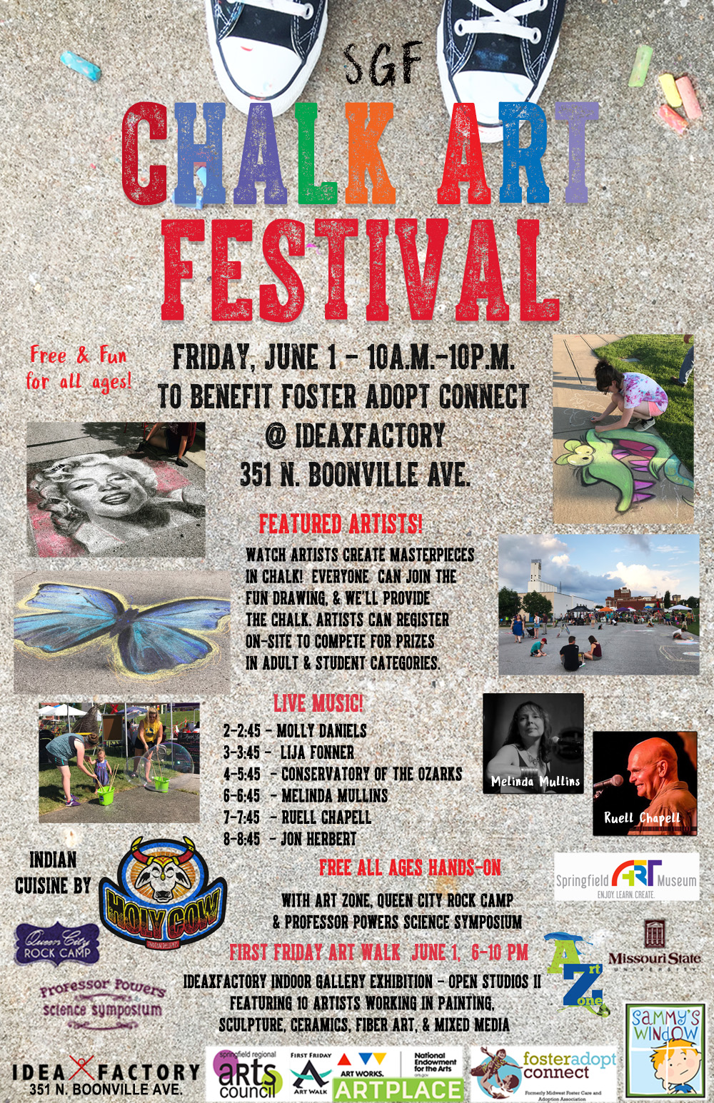 SGF Chalk Art Festival on Friday, June 1