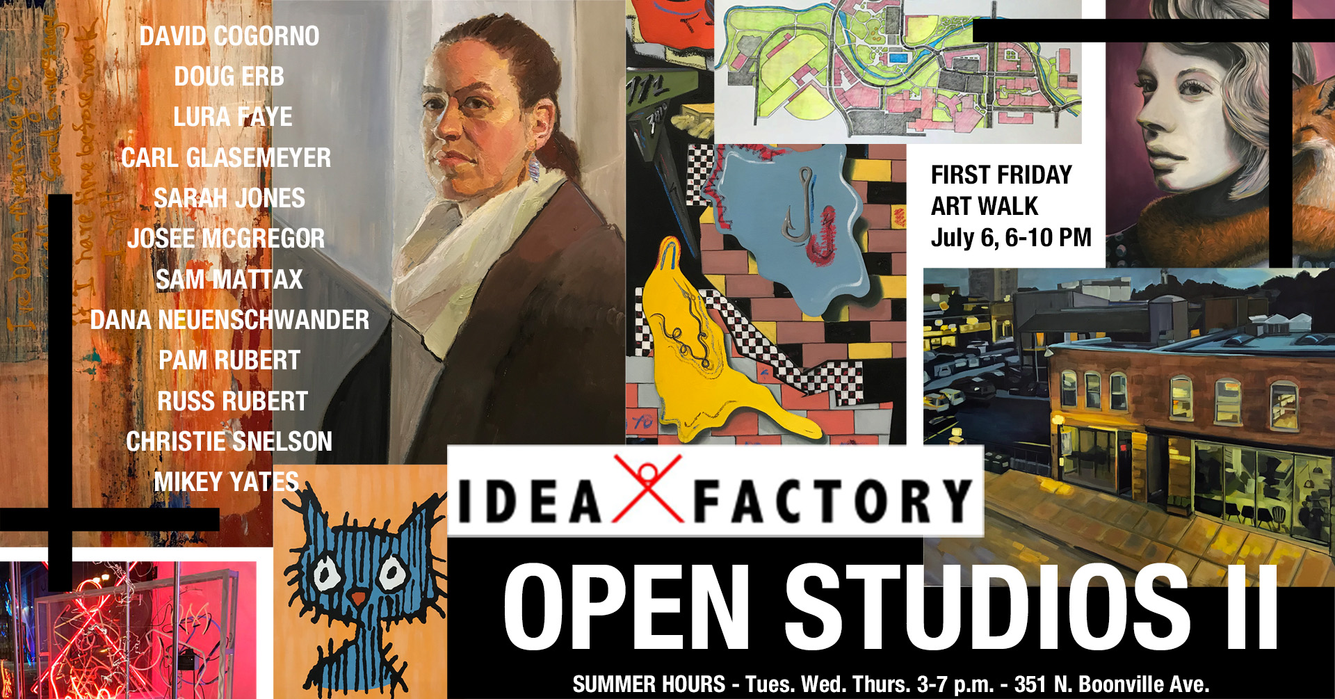 Open Studios II reception on First Friday, July 6