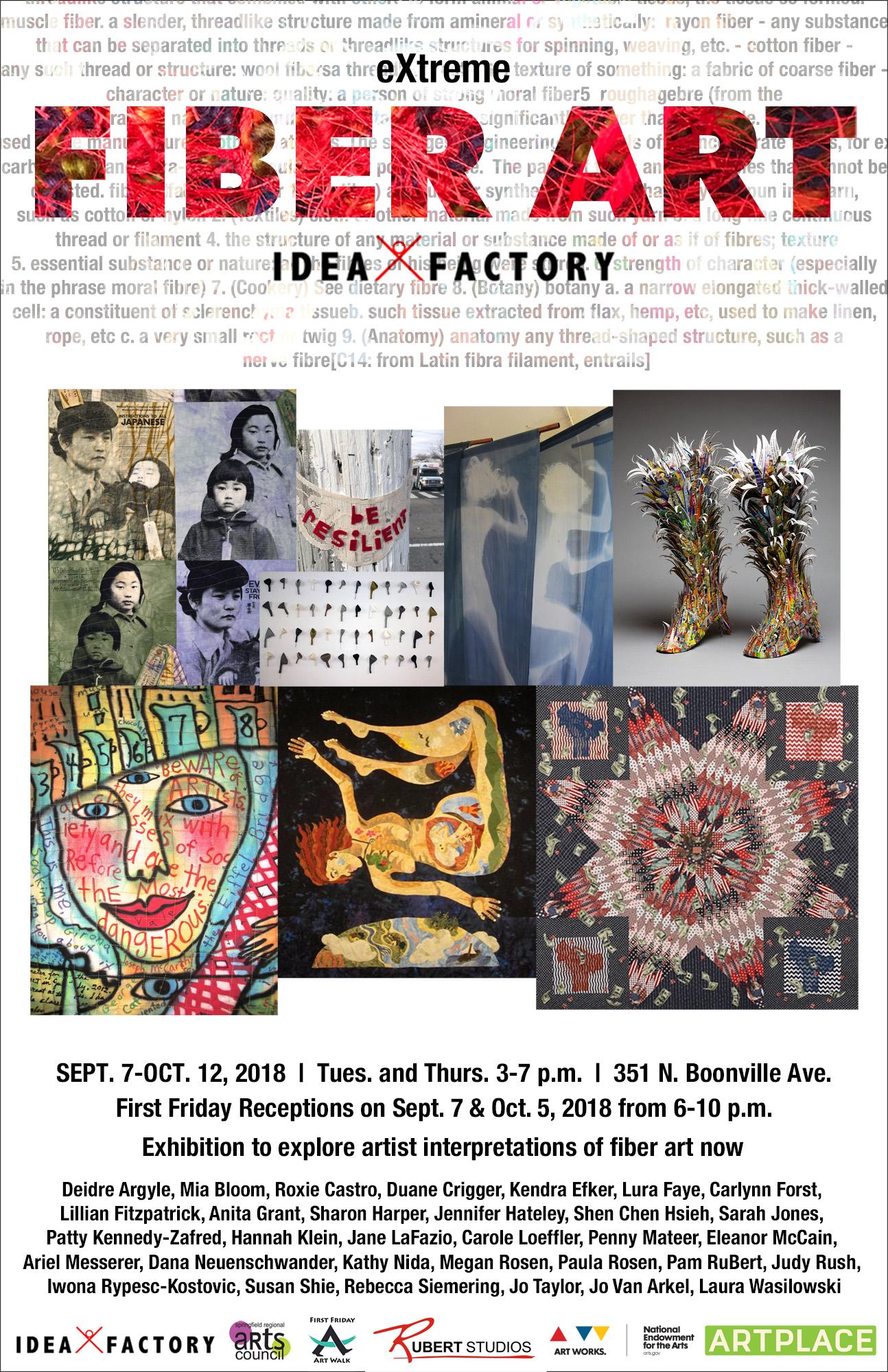 eXtreme Fiber Art exhibition Sept. 7-Oct. 12