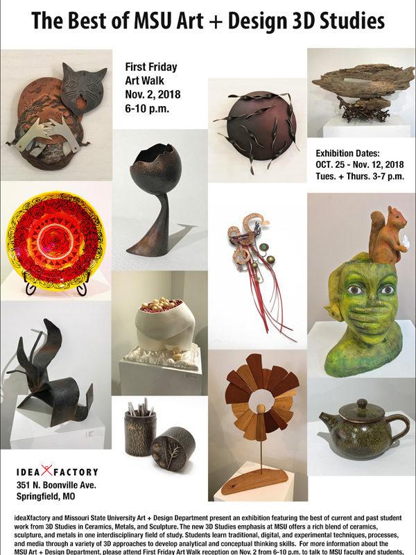 Ceramics + Metals + Sculpture: The Best of MSU Art+Design 3D Studies